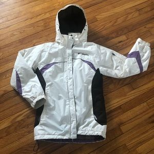 Columbia White Purple & Brown Insulated Jacket
